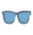 sunglasses accessorie travel color sketch vector image