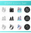 surface water sport icons set vector image