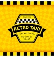 Taxi symbol with checkered background - 17 vector image vector image