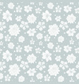 tropical gray white flowers seamless repeat vector image
