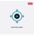 two color shooting target icon from weapons vector image vector image