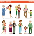 set of people with children vector image