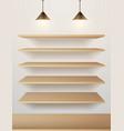 wood shelf on wall vector image