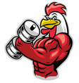 muscle rooster holding the barbell
