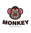 monkey head logo template vector image