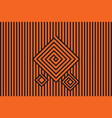 abstract black and orange seamless pattern vector image
