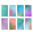 abstract bright blur backgrounds for smartphone vector image vector image