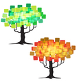 abstract tree - graphic element - two trees vector image vector image