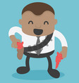 african businessman cowboy in the hand vector image