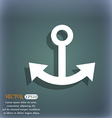Anchor icon On the blue-green abstract background vector image