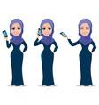 arabic business woman cartoon character vector image vector image
