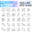 bitcoin thin line icon set cryptocurrency symbols vector image vector image