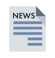 black newspaper icon isolated on background vector image vector image