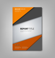Brochures book or flyer with orange grey triangles vector image vector image