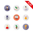 business icons set flat vector image