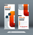 business roll up banner stand abstract roll up