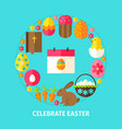 celebrate easter postcard vector image vector image