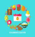 celebrate easter postcard vector image