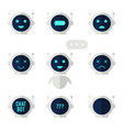 chat bot icon set robot with speech bubble and vector image vector image