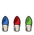 christmas light bulbs vector image vector image