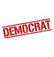 democrat stamp vector image vector image