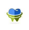 dentist tooth medicine logo vector image vector image