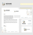 electric power business letterhead envelope and vector image vector image