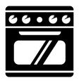 electric stove icon simple style vector image