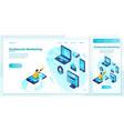 eps outbound marketing speaker man set vector image