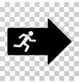 exit arrow icon vector image vector image