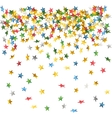 falling down confetti vector image vector image