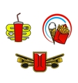Fast food symbols vector image vector image