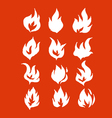 Fire flames icons in vector image