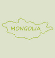 flag map of mongolia vector image vector image