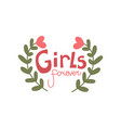 girls forever girlish pretty design element with vector image