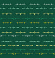 green seamless pattern with tribal ethnic vector image vector image