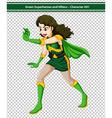 Green Superhero vector image vector image