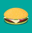 hamburger flat design vector image vector image