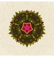 Hand drawn Mandala Floral Design Element vector image vector image