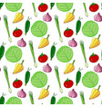 hand drawn seamless pattern with colorful vector image vector image