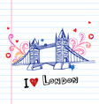 I love London doodles vector image
