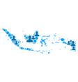 indonesia map population demographics vector image vector image