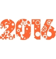 Industry style 2016 year number concept vector image
