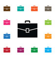 isolated briefcase icon suitcase element vector image vector image