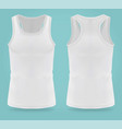 isolated realistic white t-shirts for women sport vector image vector image