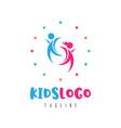 kids logo concept vector image vector image