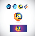 Letter a sphere logo icon 3d vector image vector image