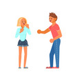 man and woman quarrelling and making scandal vector image vector image