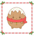 merry christmas cute ginger cookie drawing vector image vector image