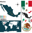 Mexico map world vector image vector image